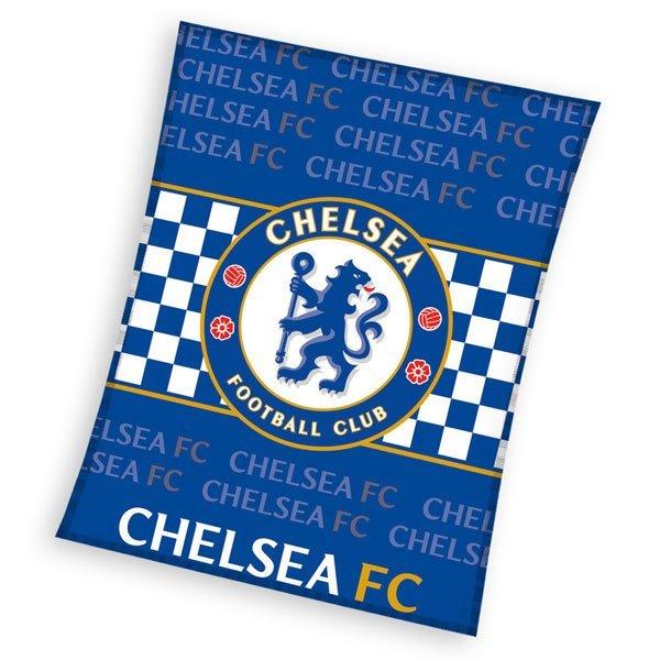 Fleece deka Chelsea nápisy 110/140