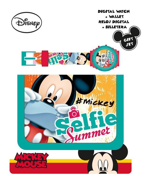 Dárková sada peněženka a hodinky Mickey Selfie