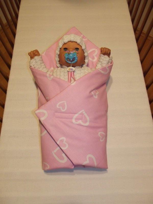 Růžová rychlozavinovačka pro panenky Srdíčka