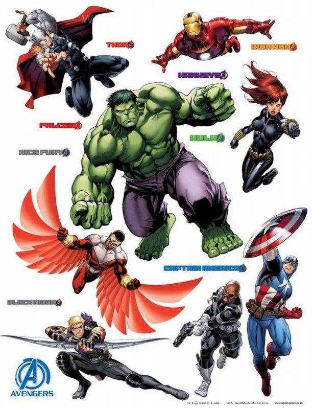 Dekorace na zeď Avengers MAXI