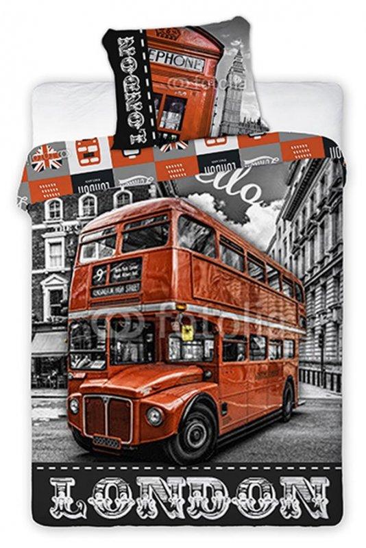 Povlečení London Bus ulice 140/200, 70/90