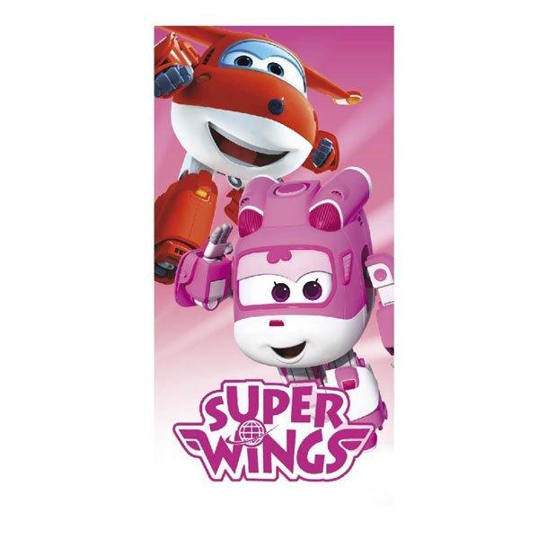 Osuška Super Wings pink 70/140