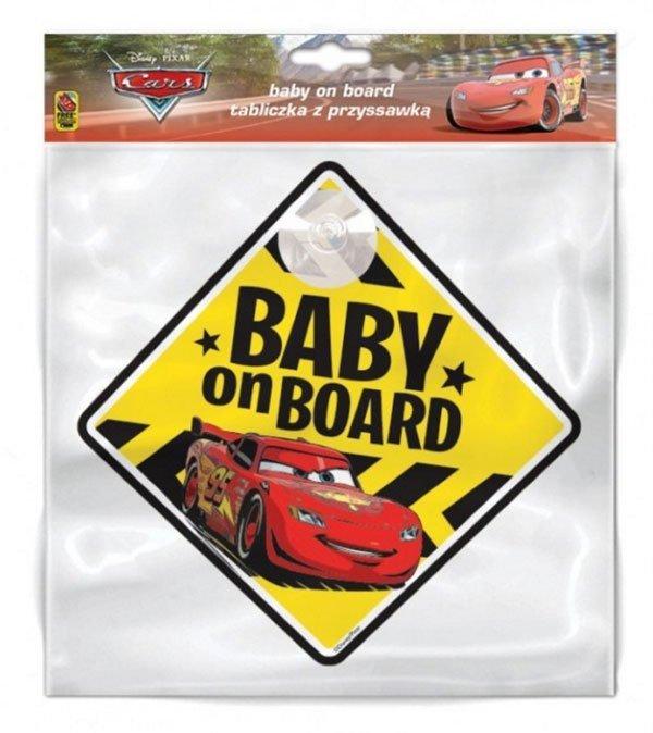 Cedulka s přísavkou Dítě v autě Auta Cars