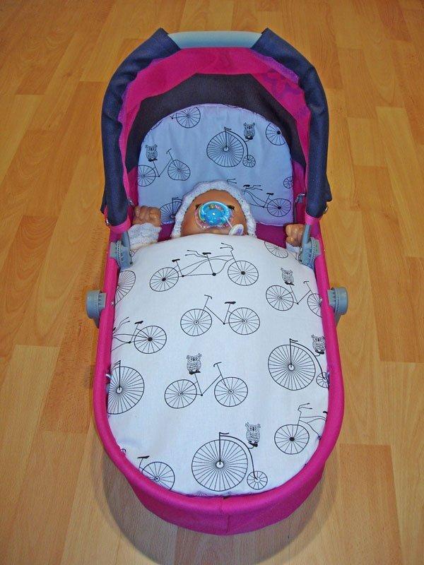 Peřinky do kočárku pro panenky Bicycle