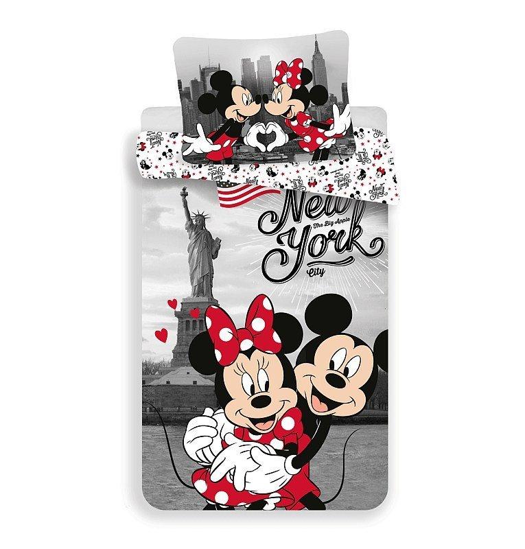 Povlečení Mickey a Minnie v New Yorku Love 140/200, 70/90