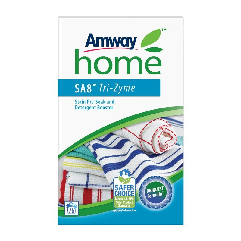 Přípravek pro přednamáčení skvrn a posílení účinku pracích prostředků AMWAY HOME™ SA8™ TRI-ZYME™ 1 kg