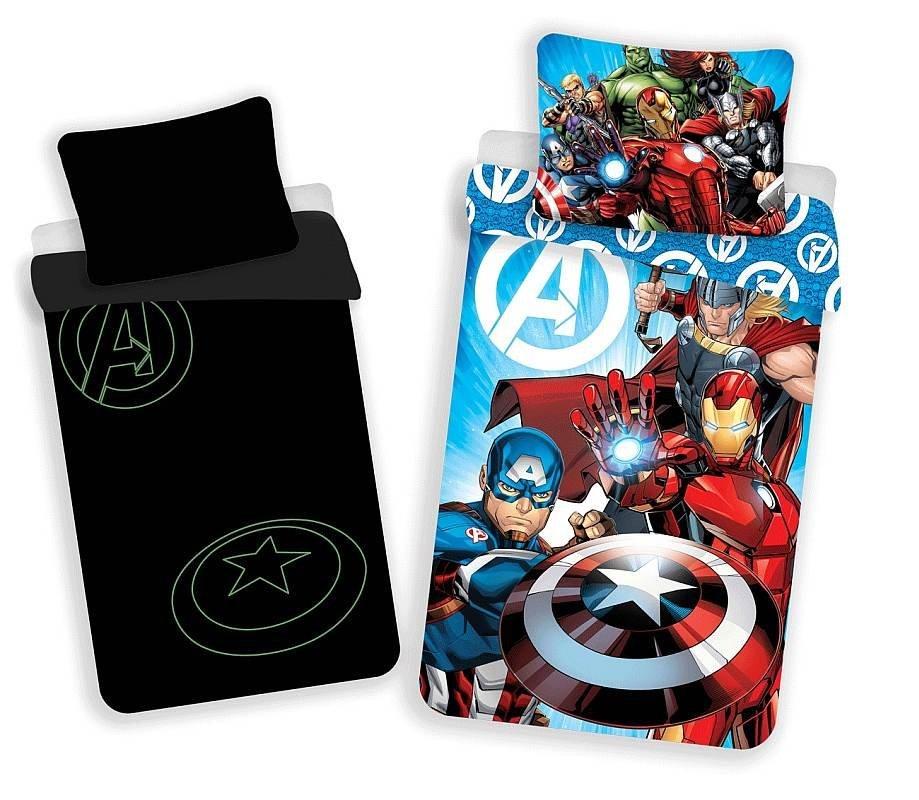 JERRY FABRICS Povlečení Avengers svítící Bavlna, 140/200, 70/90 cm