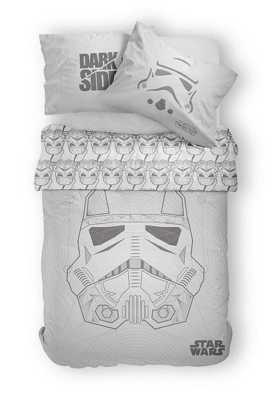 DETEXPOL Povlečení Star Wars grey Bavlna, 140/200, 70/80 cm