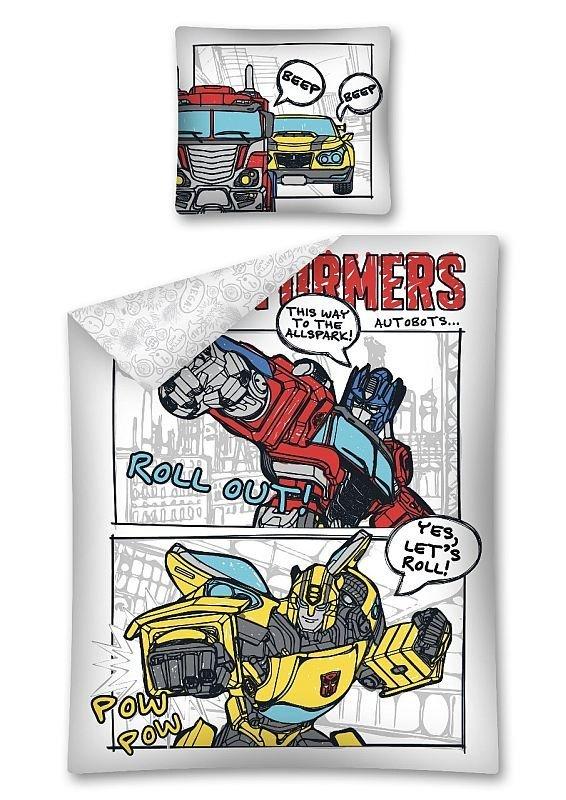 DETEXPOL Povlečení Transformers komiks Bavlna, 140/200, 70/80 cm