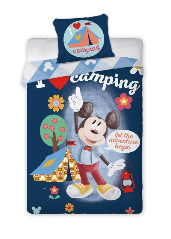 FARO Povlečení Mickey camping Bavlna, 140/200, 70/90 cm