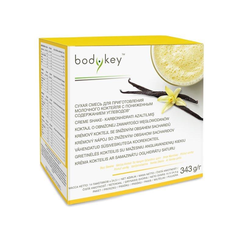 Krémový koktejl se sníženým obsahem sacharidů - příchuť vanilky bodykey™ 343 g