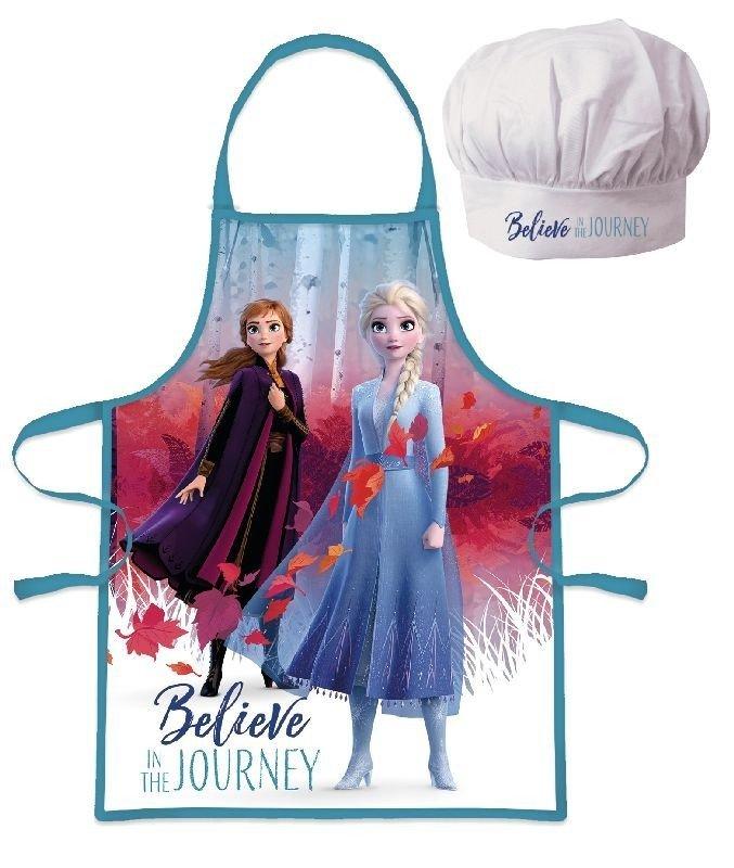 EUROSWAN Dětská zástěra s kuchařskou čepicí Ledové Království 2 Believe Polyester 52x42 cm