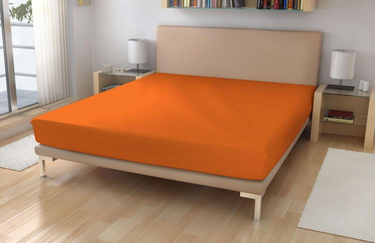 Jersey prostěradlo EXKLUSIVE Sytě oranžová 90/200