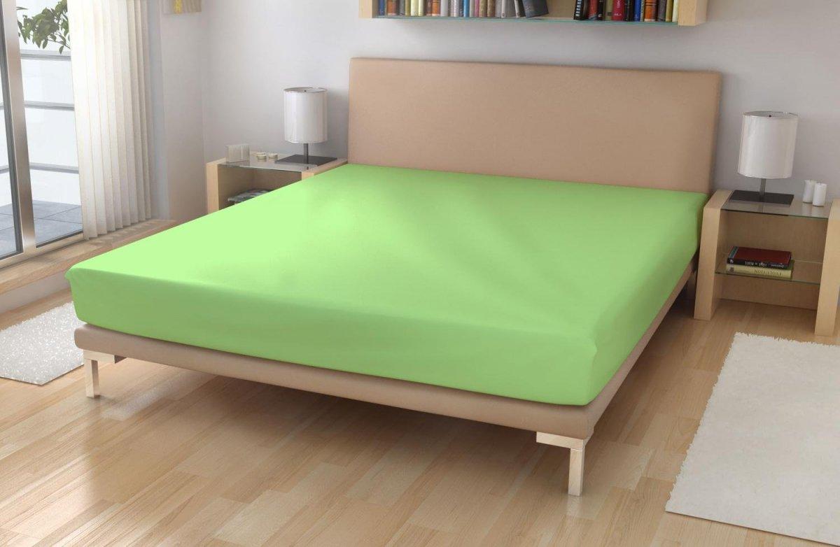 Froté prostěradlo EXKLUSIVE Světle zelená 180/200