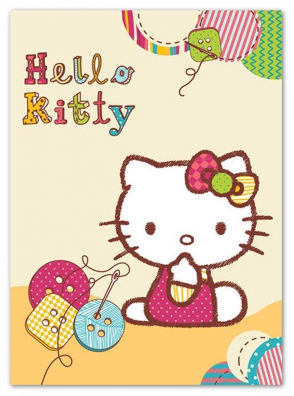 Španělská deka Hello Kitty knoflíky 80/110