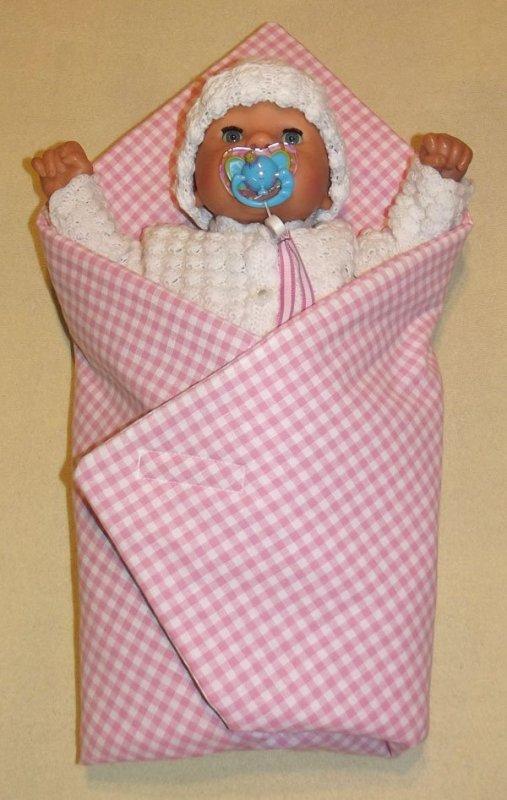 Rychlozavinovačka pro panenky Kostička růžová
