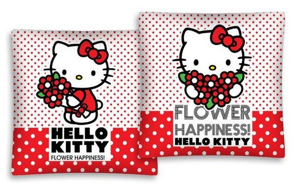 Povlak na polštářek Hello Kitty kytičky 40/40