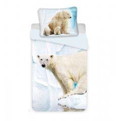 JERRY FABRICS Povlečení Lední medvěd Bavlna, 140/200, 70/90 cm