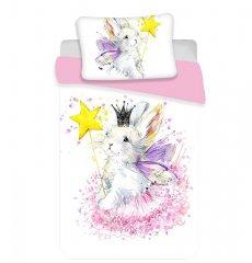 JERRY FABRICS Povlečení do postýlky Bunny white baby Bavlna, 100/135, 40/60 cm