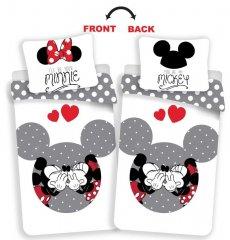 Povlečení Mickey a Minnie love grey 140/200, 70/90