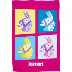 Fleece deka Fortnite Lama pink 100/150