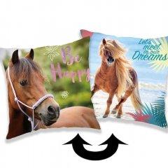 Měnící polštářek s flitry Horse heart 40/40