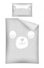 DETEXPOL Bambusové povlečení do postýlky Medvídek šedý Bavlna, Bambus, 100/135, 40/60 cm