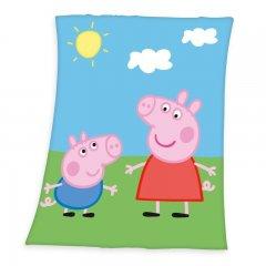 HERDING Fleece deka Peppa Pig Polyester, 130/160 cm
