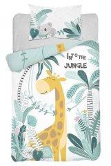DETEXPOL Bambusové povlečení do postýlky Žirafa Jungle Bavlna, Bambus, 100/135, 40/60 cm