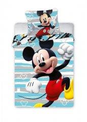 FARO Povlečení do postýlky Mickey Happy Bavlna, 100/135, 40/60 cm