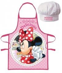 EUROSWAN Dětská zástěra s kuchařskou čepicí Minnie Polyester 52x42 cm