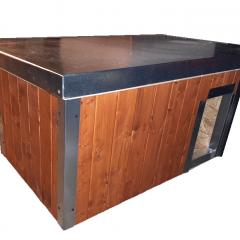 Polystyrenem zateplená bouda pro psa 100 x 60 x 50 cm s lazurou