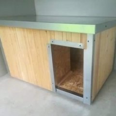 Vatou zateplená bouda pro psa 125 x 80 x 70 cm s lazurou