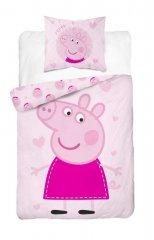 DETEXPOL Povlečení Peppa Pig růžová Bavlna, 140/200, 70/80 cm