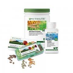 Balíček Foundational Trio s Omega-3 Complex 130 g, All Plant Protein 450 g a NUTRILITE™ DOUBLE X™ 186 tablet
