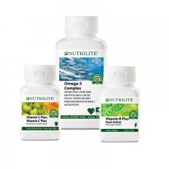 Balíček Omega-3 Complex , Vitamin B Plus (60 tablet) a Vitamin C Plus (60 tablet).