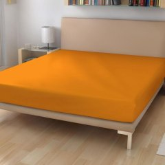 Jersey prostěradlo EXKLUSIVE Světle oranžová 180/200