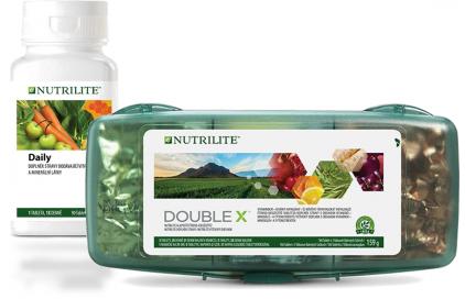 NUTRILITE™ DOUBLE X™ a Daily jako zdroje vitaminů a minerálních látek