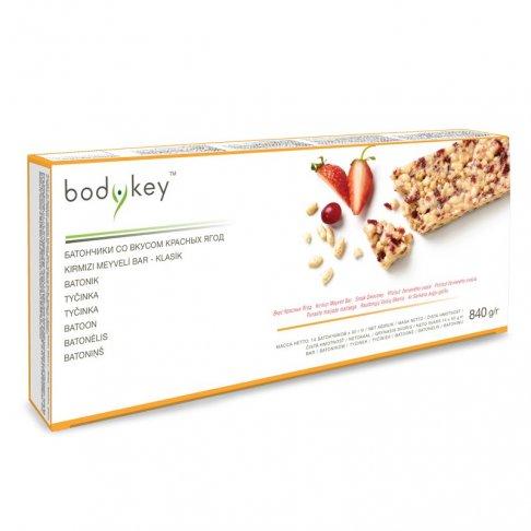 Tyčinka - příchuť červeného ovoce bodykey™ 14 ks
