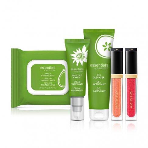 Balíček Essential - essentials by ARTISTRY Gel s čistícím účinkem + essentials by ARTISTRY Odličovací obrousky + essentials by ARTISTRY Hydratační krém
