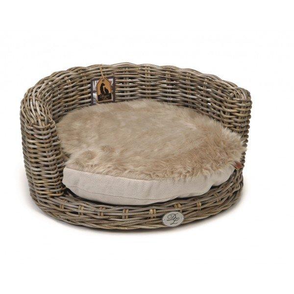 Kulatý ratanový pelíšek pro psa a kočku - DUKE