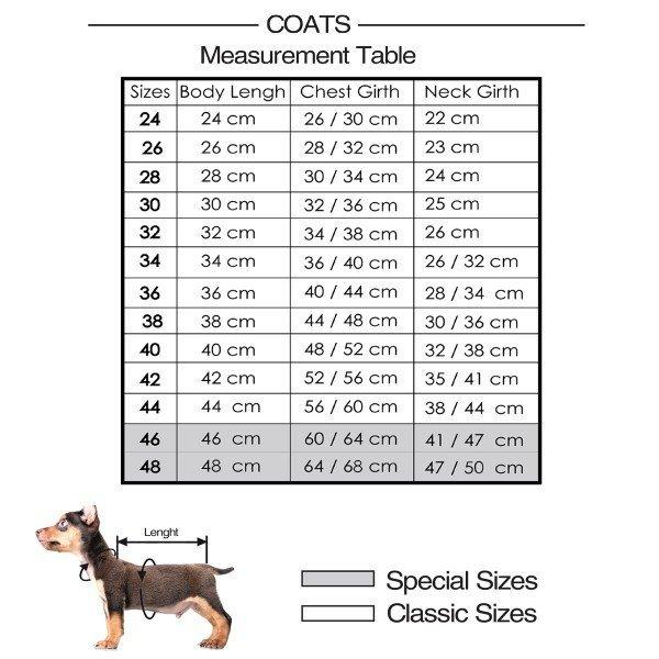 Nepromokavý zateplený kabát Mix pro psy