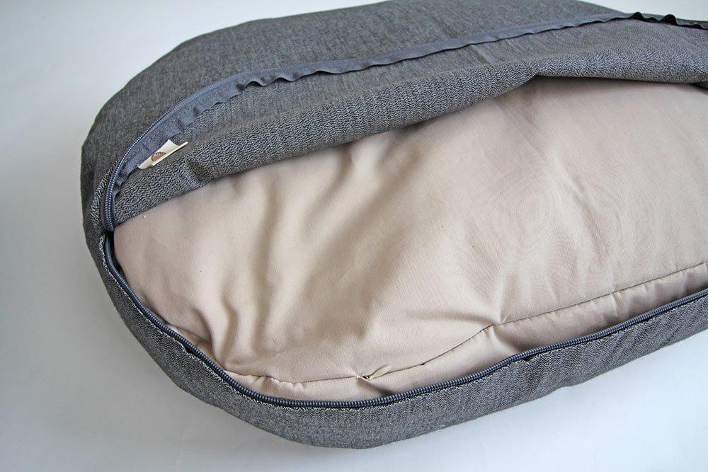 Háčkovaný pelíšek pro psa a kočku - šedý