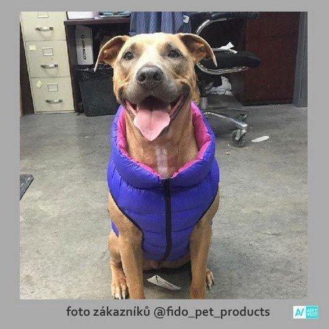 Fialový obleček pro psy