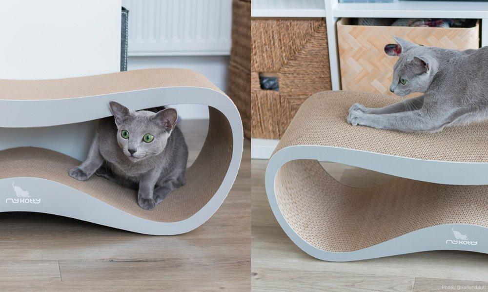Designová kočičí škrabadla z kartonu