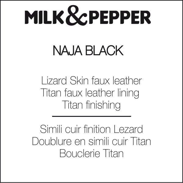Luxusní kožený postroj Naja Black pro psa