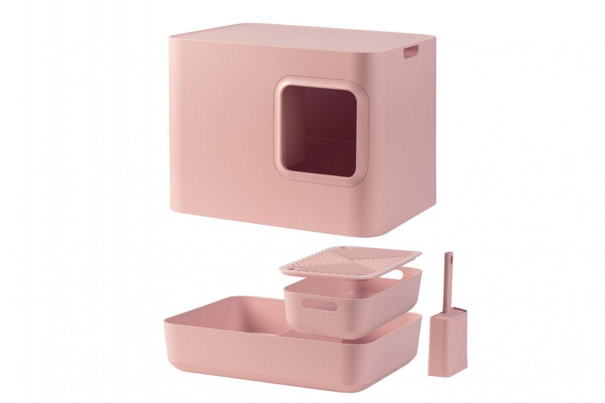 Uzavřený kočičí záchod - růžový