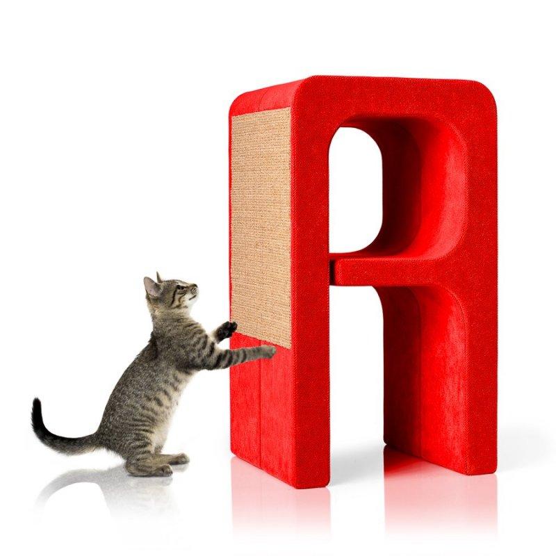 Pelíšek a škrabadlo Alphabet - písmeno: moderní designový nábytek pro kočku