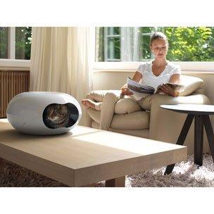 Moderní pelíšek a odpočívadlo pro kočky a malé psy OVAL
