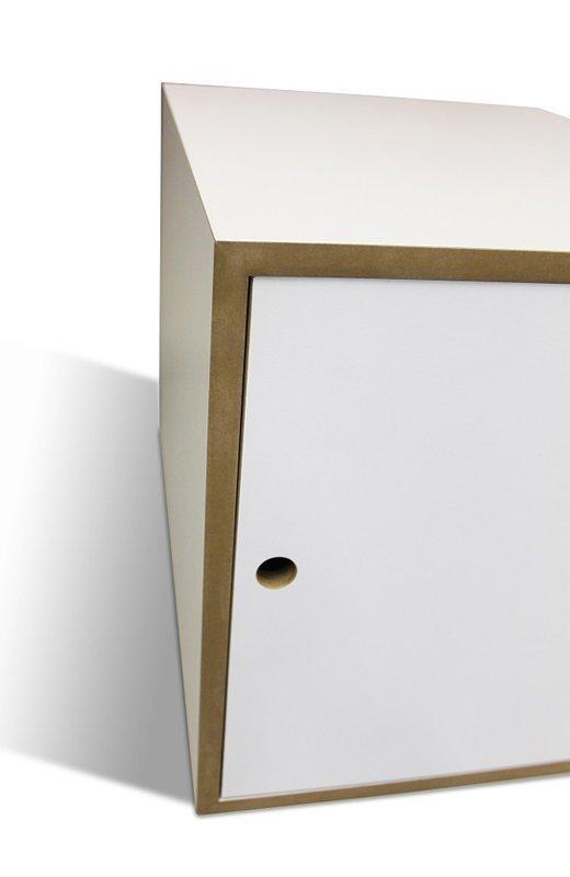 Binq - designová toaleta pro kočky oranžová + stelivo